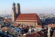 Ville de Munich avec vue sur la Frauenkirche